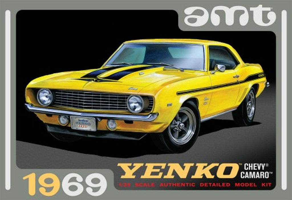 1969 Chevy Yenko Camaro 1/25 AMT Models 1093 Plastic Model Kit - Shore Line Hobby