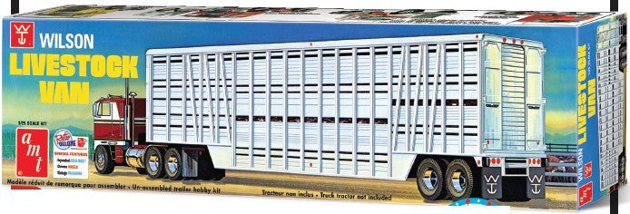 Wilson Livestock Van Trailer 1/25 AMT Models 1106 Plastic Model Kit - Shore Line Hobby