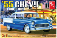AMT 1119 1955 Chevrolet Bel Air Sedan 2 in 1 plastic model kit 1/25