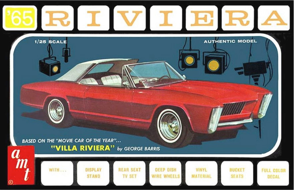 AMT 1121 1965 Buick Riviera 3 in 1 w/ Villa Riviera Parts Plastic Model Kit 1/25 - Shore Line Hobby