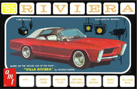 AMT 1121 1965 Buick Riviera 3 in 1 w/ Villa Riviera Parts Plastic Model Kit 1/25