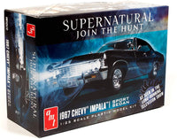 AMT 1967 Chevy Impala 4-Door Supernatural Night Hunter TV Show Model Kit Replica - Shore Line Hobby