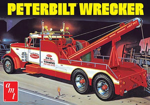 Peterbilt 359 Wrecker Truck AMT 1133 1/25 Plastic Model Kit - shore-line-hobby