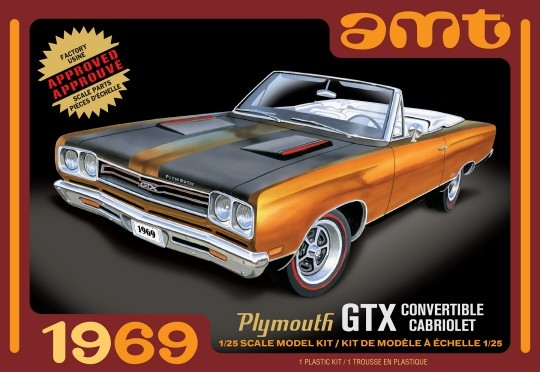 1969 Plymouth GTX Convertible Car 1/25 AMT Models - shore-line-hobby