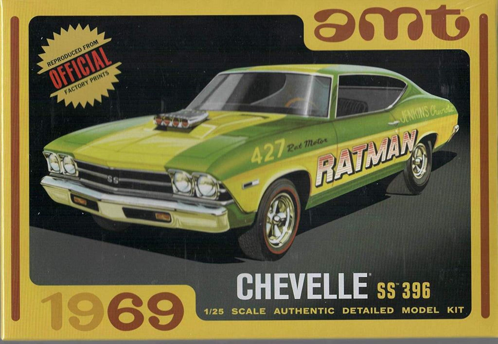 AMT 1969 Chevy Chevelle SS 396 Ratman 1:25 1138 Plastic Model Kit - Shore Line Hobby
