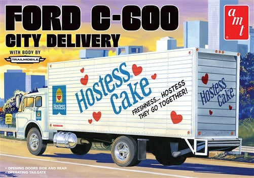 AMT Hostess Ford C600 Delivery Truck 1/25 1139 Plastic Model Kit - shore-line-hobby