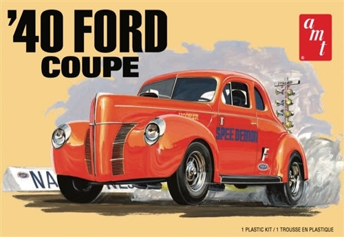 1940 Ford Coupe AMT 1141 1/25 Plastic Model Kit - shore-line-hobby