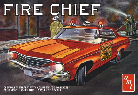 AMT 1970 Chevy Impala Fire Chief/Police Cruiser 1/25 1162 Plastic Model Kit - Shore Line Hobby