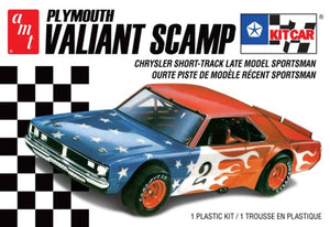 Plymouth Valiant Scamp Kit Race Car 1/25 AMT Models 1171 - shore-line-hobby