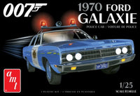 AMT Models James Bond 1970 Ford Galaxie Police Car 1/25 Plastic Model Kit 1172 - Shore Line Hobby