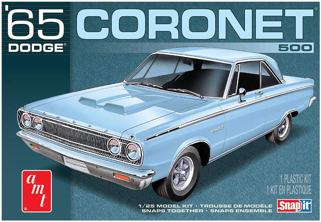 AMT 1965 Dodge Coronet Snap Kit 1/25 1176 Plastic Model Kit - Shore Line Hobby