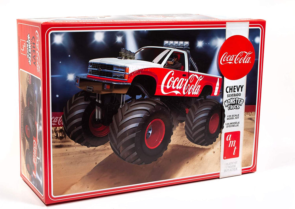 AMT 1988 Chevy Silverado Monster Truck (Coca-Cola) 1/25th 1184 Plastic Model Kit - Shore Line Hobby