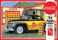AMT 1941 Plymouth Coupe 1/25 1197 Plastic Model Kit Coca Cola - Shore Line Hobby