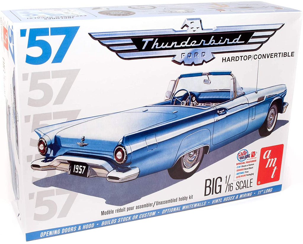 AMT 1957 Ford Thunderbird 1/16 1206 Plastic Model Kit - Shore Line Hobby