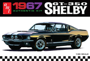1967 Shelby GT-350 Ford Mustang AMT 834 1/25 Black Car Model Kit