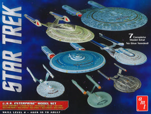 AMT 0954 1/2500 Star Trek USS Enterprise Box Set Snap - 7 Kits