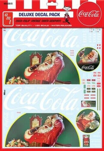 Coca Cola Vintage Santa Graphics Decal Pack AMT MKA35 1/25 - shore-line-hobby