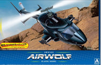 Aoshima Airwolf Helicopter TV Show 1/48 5590 Plastic Model Kit