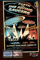 Earth vs The Flying Saucers UFO 2nd Edition 5-Inch Model Kit with Light Atlantis 1005 - shore-line-hobby