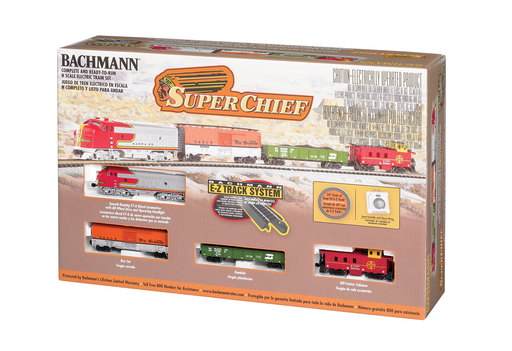 Bachmann Trains N Scale Super Chief Train Set Model Railroad - shore-line-hobby