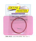 Detail Master DM-1025 Red Ignition Wire 2 ft .012 Thick - shore-line-hobby