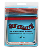 "Flex-I-File #301 ""3 In 1"" Set Aluminum Frames and Abrasive Tapes - Shore Line Hobby"