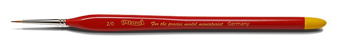 Size 2/0 Ultra Fine Red Sable Brush - shore-line-hobby