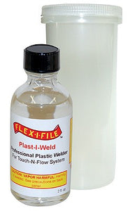Plast-I-Weld Solvent Cement (2oz. Bottle) - shore-line-hobby