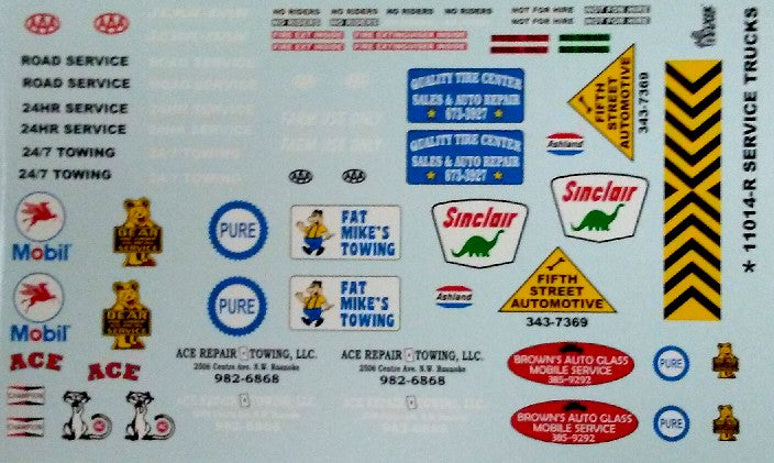 Service Truck Decals 1/24 1/25 Gofer Racing 11014
