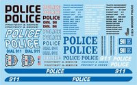 Modern Police Decals Gofer Racing 11024 Model Detailing Accessories