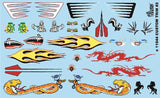 Gofer Racing Custom Car Trim Decals 1/24 1/25 11044 Model Detailing Accessories - shore-line-hobby