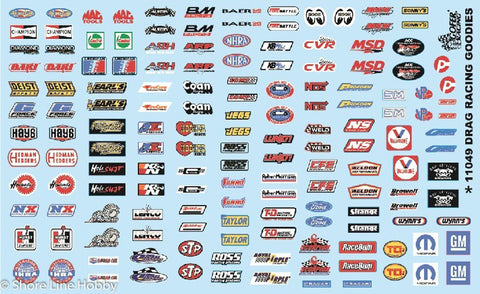 Drag Racing Goodies Truck Car Detail Accessories Decal Set 1/24 1/25 Gofer 11049