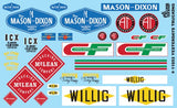 Yesterdays Trucking Logos Decals 1/24 1/25 Gofer Racing 11052 - shore-line-hobby
