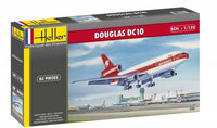 DC-10 Aeromexico Commercial Airliner Heller 80460 1/125 Model Airplane Kit - shore-line-hobby