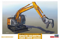 Hasegawa 66103 - 1/35 Hitachi Excavator Zaxis 135US Crusher Construction Machinery - Shore Line Hobby