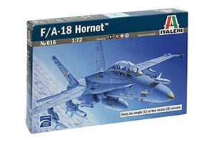 Italeri F/A-18 Hornet Airplane Plastic Model Kit 016 1:72 - shore-line-hobby