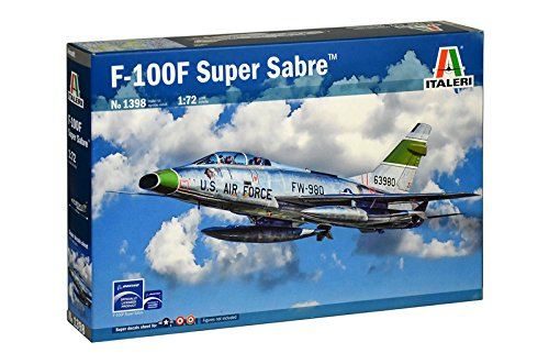 Italeri F-100F Super Sabre Airplane Plastic Model Kit 1398 1:72 - shore-line-hobby