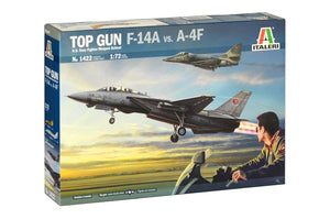 Italeri USN Fighter Weapon School F-14A vs A-4F Plastic Model Airplane Kit 1/72 1422 - shore-line-hobby
