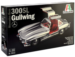 Italeri Mercedes-Benz 300SL Gullwing 1:16 Plastic Model Kit - shore-line-hobby