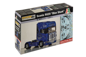 "Italeri Scania R620 ""Blue Shark"" Plastic Model Kit 1/24 3873"