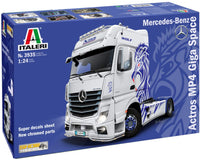 Italeri 3935S 1:24 M-B Actros MP4 Show GigaSpace Plastic Model Kit - Shore Line Hobby