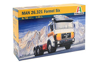 Italeri MAN 26.321 Formel Six 1/24 756 Plastic Model Kit - shore-line-hobby