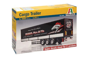 Italeri Cargo Trailer 1/24 3885 Trucks & Trailers Plastic Model Kit
