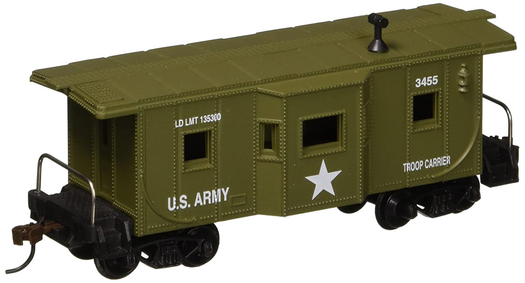 Model Power - Caboose US Army #3455 HO - 99165 - Shore Line Hobby