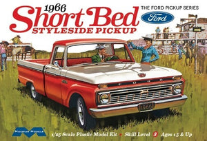 1966 Ford Short Bed Styleside Pickup Truck Model Kit 1/25 Moebius 1233