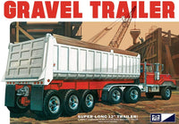 Gravel Trailer MPC 823 1/25 Super Long Plastic Model Kit New - Shore Line Hobby