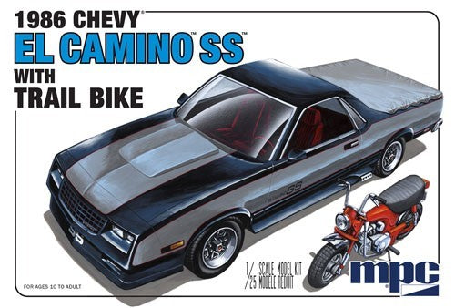 1986 Chevy El Camino w/Trail Bike 1/25 MPC Models 888 Plastic Model Kit - Shore Line Hobby