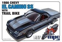 1986 Chevy El Camino w/Trail Bike 1/25 MPC Models 888 Plastic Model Kit - shore-line-hobby