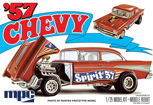 "1957 Chevy ""Spirit of 57"" Gasser Car 1/25 MPC 904 Plastic Model Kit - Shore Line Hobby"