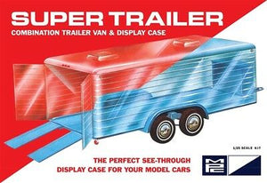 MPC 909 Super Trailer Clear Van Body plastic model kit 1/25 and 1/24